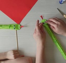 Photo of Об'ємні змійки з паперу