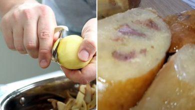 Photo of Рідний рецепт картопляної ковбаски, ще маминою рукою записаний в шкільному зошиті